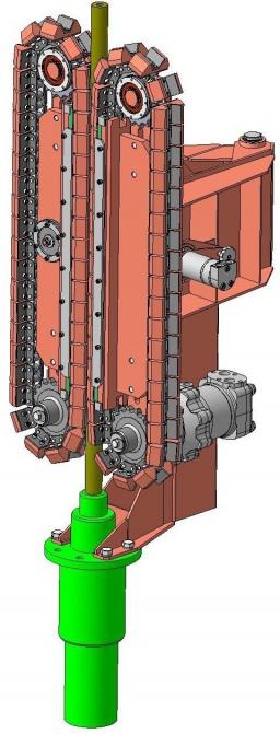 инжектор для спуска сталеполимерной трубы в скважину